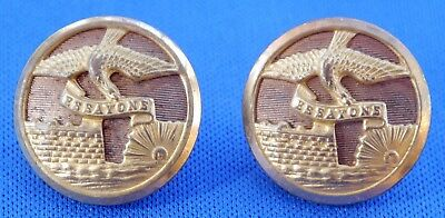Set of 2 WWII US Army Corp Of Engineers ESSAYONS Dress Buttons. NS MEYER, NY