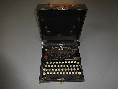 "1920's Remington ""Portable"" Typewriter w/Original Case Black/Black"