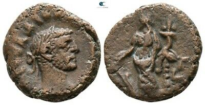 Savoca Coins Rome Egypt Alexandria Diocletian Tyche 8,47g/17mm §COL343