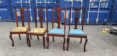 Antique Victorian Set of 4 Chairs Mahogany No Reserve 99p Start