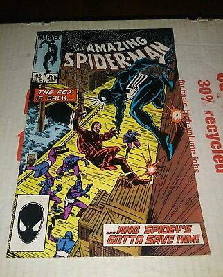 AMAZING SPIDER-MAN #265  1st APPEARANCE OF SILVER SABLE  F - VF