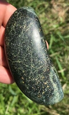 Fine Rare  Bannerstone   Indian artifacts Green Chlorite Ohio