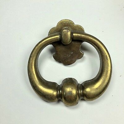 """Vintage Brass Drawer Handle Pull 3-1/2"""" - 1"""" Hole to Hole"""