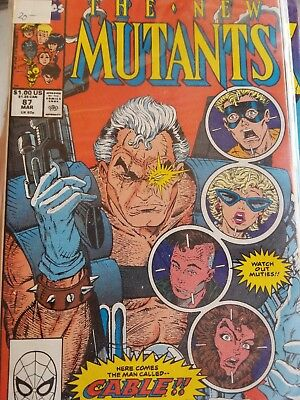 New Mutants #87 Vol 1 great book, looks high grade 1st Appearance of Cable