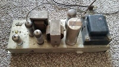 Magnavox Single Ended Stereo 6BQ5/12AX7 5y3gt Tube Amplifier Amp For Parts