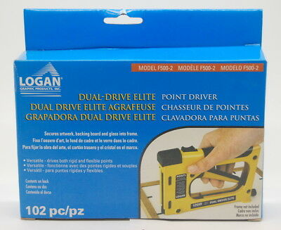 Logan F500-2 Dual Drive Picture Framing Point Driver BRAND NEW