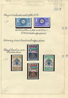 Weeda Gambia 210/275 VF H 1965-1972 Commonwealth issue CV $22.15