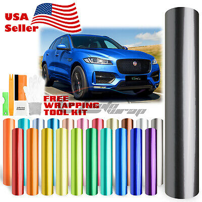 *Premium High Gloss Metallic Glossy Sticker Decal Vinyl Wrap Air Release Bubble
