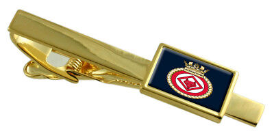 Royal Navy HMS Atherstone Gold Tie Clip Engraved