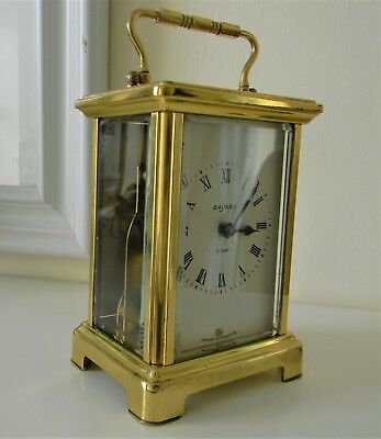 "20th Century Brass and Bevelled Glass French Carriage Clock Timepiece ""Bayard"""