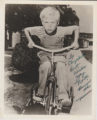 Jay North Dennis the Menace Autographed 8 x 10 Photo Black and White