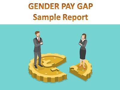 Gender Pay Gap - Sample Report HR Human Resources Glass Ceiling Equality Equal