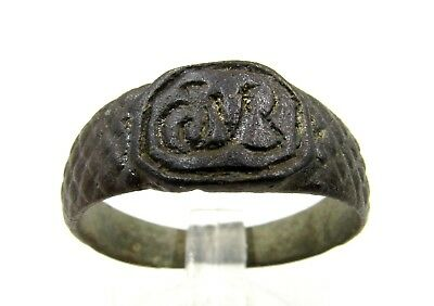 Authentic Late / Post Medieval Ring W/ Initials - Wearable - E316