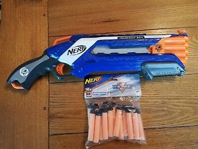 Nerf N-Strike Elite Rough Cut 2x4 Blaster Shotgun - Used *EXCELLENT* w dart bag