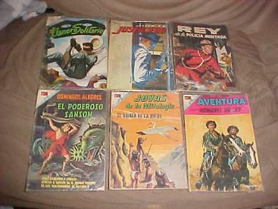 6 Vintage 1960's Mexican Spanish Adventure Comic Book Lot