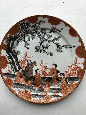 19th Century Japanese Meiji Period Marked Satsuma Plate