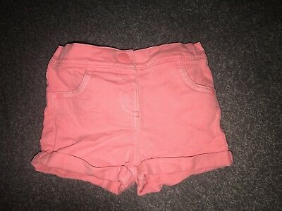 girls shorts 9-12 months M&S