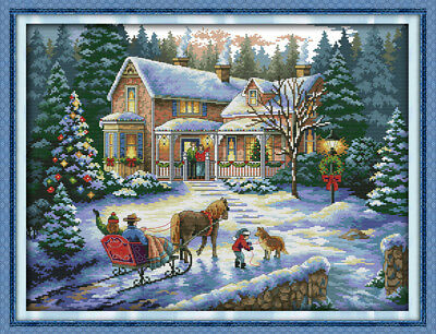 Coming Home for Christmas cross stitch chart Free Post