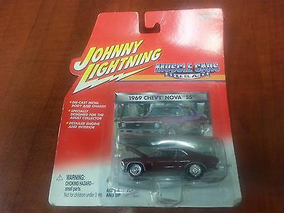 JOHNNY LIGHTNING MUSCLE CARS 1969 CHEVY NOVA DIECAST 1:64 BRAND NEW Free Shippin