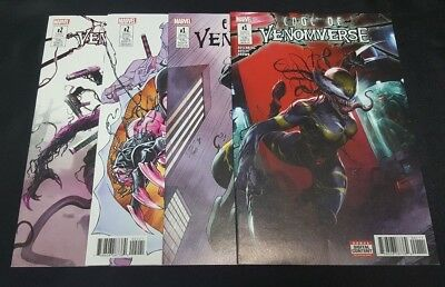 Edge Of Venomverse  1 2 And 1 2 Variants Mattina Ron Lim Nm Set Venom X 23 3