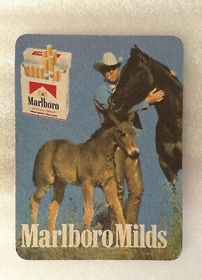 1970's VINTAGE MARLBORO MILDS CIGARETTE BEER DRINK COASTER - UNUSED
