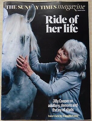 The Sunday Times Magazine, 28 August 2016, Jilly Cooper, Ride Of Her Life