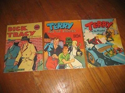 (3) 1983 Chicago Tribune Reprints (2) Terry and the Pirates & (1) Dick Tracy