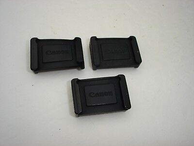 Lot of 3 Canon Camera Eyepiece Viewfinder Covers For 40D, 50D, 60D, 6D , 5D