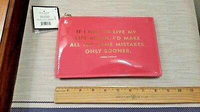 "KATE SPADE Pencil Pouch Set ""Same Mistakes"" - Six Piece set Brand New"
