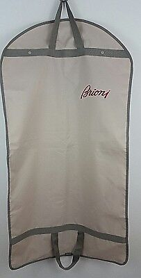 BRIONI Garment Luxury Bag Travel Waterproof Beige Red Embroidery New Italy