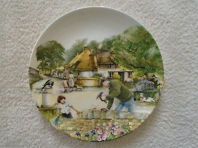 Royal Doulton Old Country Crafts Collector Plate - The Dry-Stone Waller