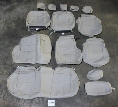 Oem Mitsubishi Leather Seat Cover Kit Front Rear All Seats Lancer 08-17 Beige