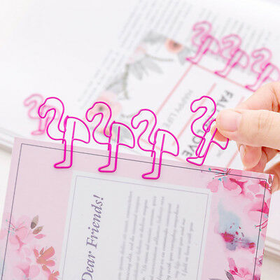5/10 pcs Cute Hollow Flamingo Pig Paper Clip Office Bookmark Binders Stationery