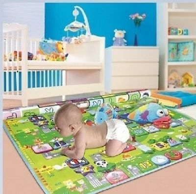 2mx1.8m Nontoxic Baby Kids Play Mat Floor Rug Cushion Crawling Picnic