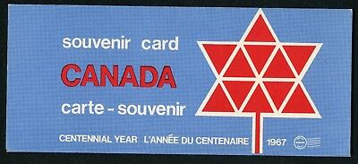 Weeda Canada VF 1967 Annual Souvenir Card #9, no envelope, VF condition CV $5