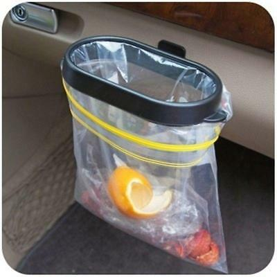 Black Car Garbage Bag Rack Sucker Trash Bag Hanger Removable Car Trash Bin
