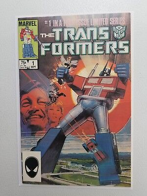 The transformers No.1 Comic Book Marvel NM key issue First Appearance