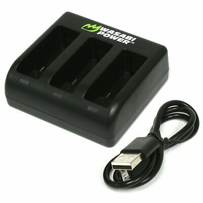 Wasabi Power Triple Battery Charger for GoPro HERO5, HERO6 Black