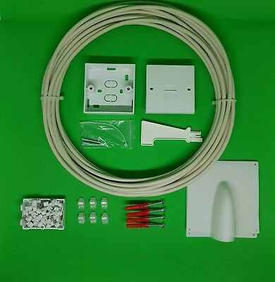 Telephone extension socket kit BT master socket line box/phone 20m White cable