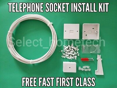 Telephone extension socket kit BT master socket line box/phone extension