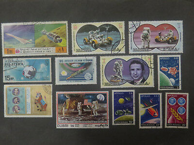Space - Rockets, Satellites, Astronauts on Stamps - 1 Page