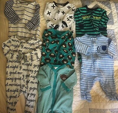 0-3 Month Baby Boy Footed Sleepers Pajamas Cloud Island Carters Gum Balls