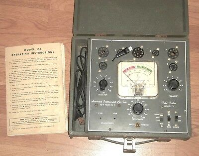 Vintage Accurate Instrument Co. Inc. Model 151 Vacuum Tube Tester Works Radio