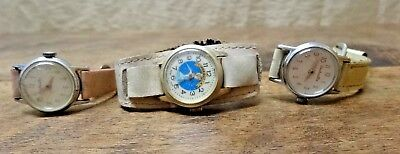 Lot of 3 Vintage Cinderella Character Watches Wristwatches