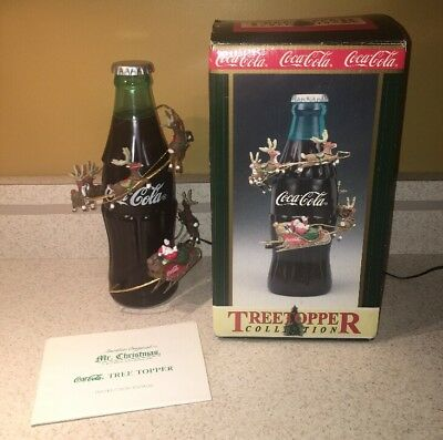 HTF Coca-Cola Animated Tree Topper / Coke Bottle / Mr. Christmas / Christmas Tre