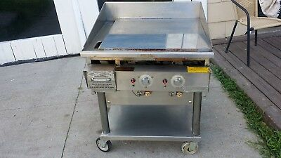 KEATING MIRACLEAN  GAS GRILL GRIDDLE 24x24 on stand  model 27BFLD