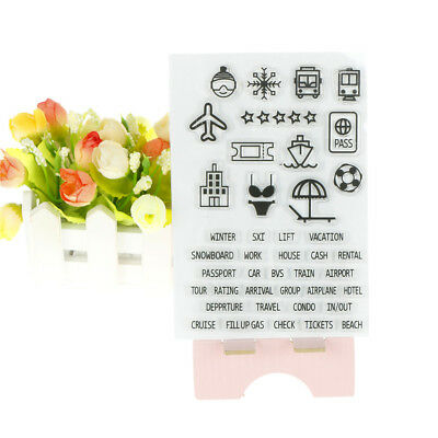 travel lifestyle diy transparent silicone rubber clear stamps for card makingLD