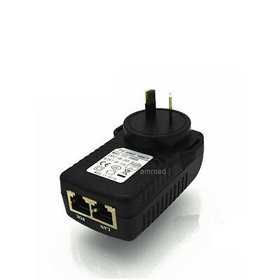 48V 0.5A AU Plug PoE Power Injector PoE Power Supply Switch Wall Adapter Adaptor