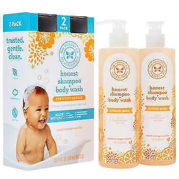 2-pack - The Honest Company Shampoo and Body Wash 17 oz - Fast Free Shipping