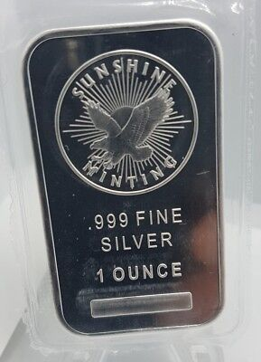 Sunshine Mint 1oz .999 Fine Silver Bar Mint Mark Sealed